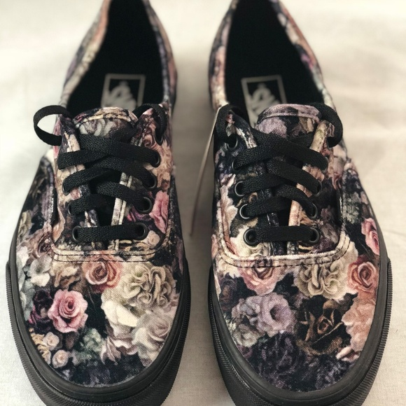5e7eb57e1c Vans Authentic Velvet Floral Black